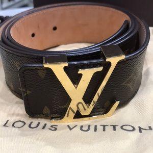 Louis Vuitton monogram women's belt size 90cm 36US
